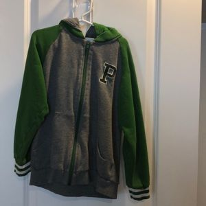 Other - Boys zip up sweatshirt with removable hood, size 8
